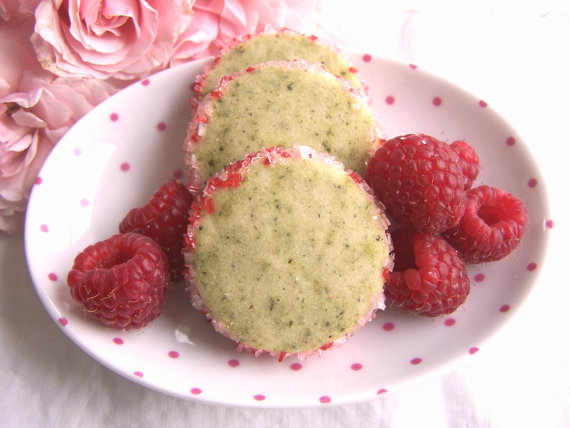 raspberry white tea cookies by ButterBlossoms