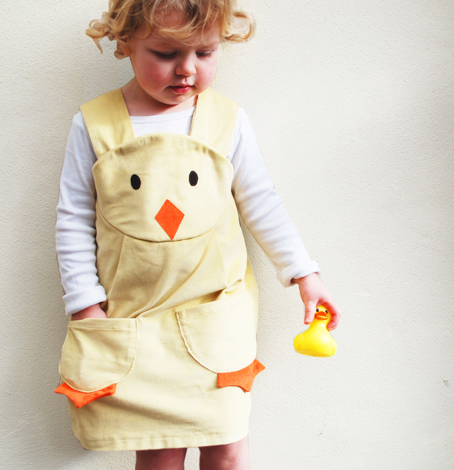 duckling easter play dress by WildThings - Funky Little Dresses