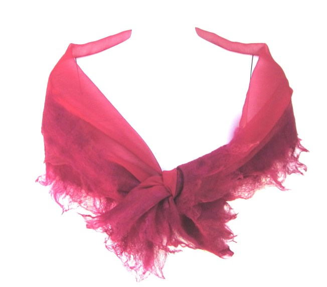 red crinkle scarf