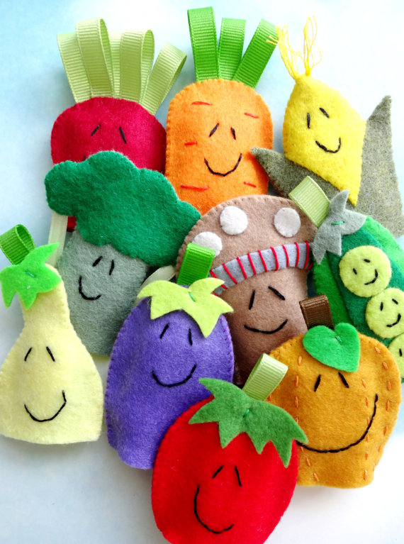 vegetable finger puppets by preciouspatterns