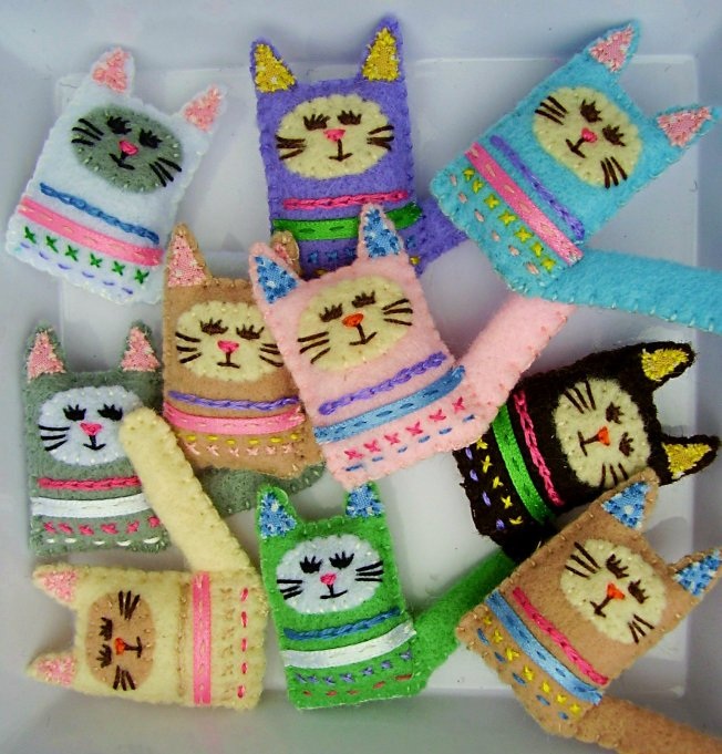 felt cats and critters by razzle dazzle